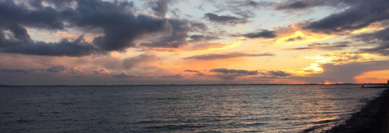 Sonnenuntergang an der Jade